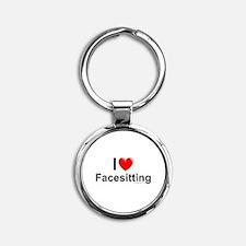 Facesitting Round Keychain