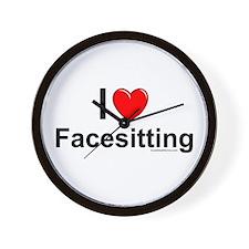 Facesitting Wall Clock