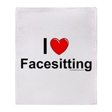 Facesitting Throw Blanket