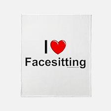 Facesitting Throw Blanket