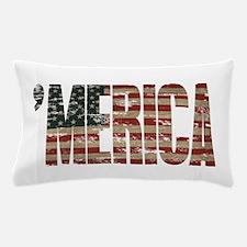 Vintage Distressed MERICA Flag Pillow Case