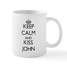 Keep Calm and Kiss John Mugs