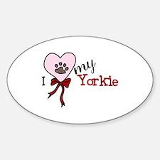 Love My Yorkie Decal