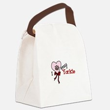 Love My Yorkie Canvas Lunch Bag