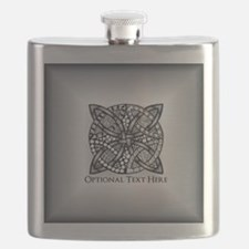 Celtic Knot Silver Customizable Flask