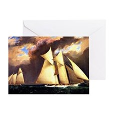 First America's Cup Race, August 8,  Greeting Card