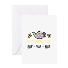 Tea Party Greeting Cards