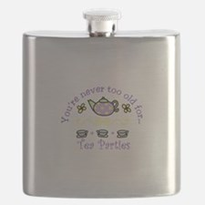 Youre never too old for Tea Parties Flask