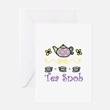 Tea Snob Greeting Cards