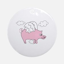 Flying Pig Ornament (Round)