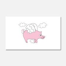 Flying Pig Car Magnet 20 x 12