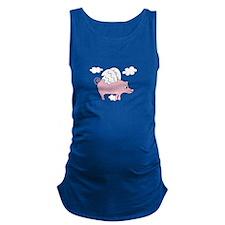 Flying Pig Maternity Tank Top