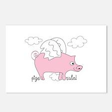 Pigs Rule! Postcards (Package of 8)