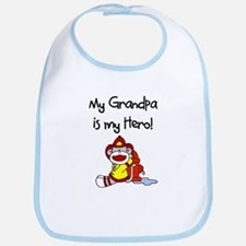 Grandpa Firefighter Hero Bib