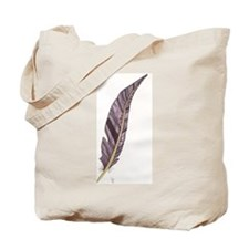 Purple Feather Tote Bag