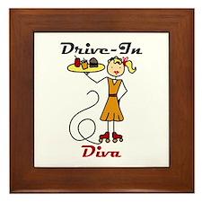 Drive-In Diva Framed Tile