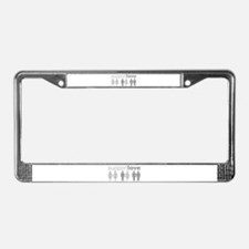 Support Love License Plate Frame