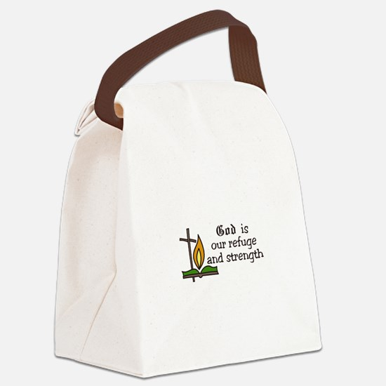 God Is Our Refuge and strength Canvas Lunch Bag