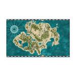Pirate Adventure Map Rectangle Car Magnet