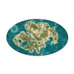Pirate Adventure Map Oval Car Magnet