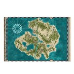 Pirate Adventure Map Postcards (Package of 8)