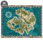 Pirate Adventure Map Puzzle