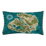 Pirate Adventure Map Pillow Case