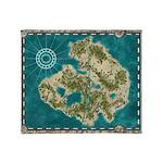Pirate Adventure Map Throw Blanket