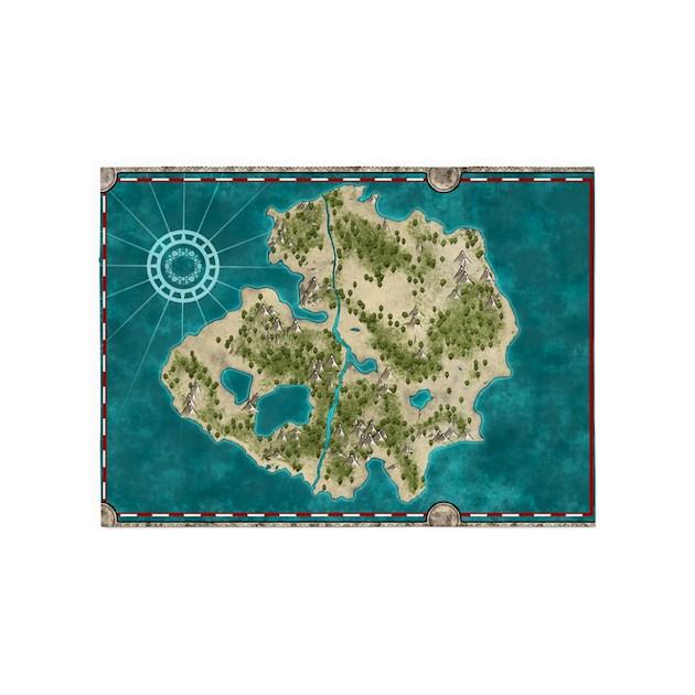Pirate Treasure Map Rug: Pirate Adventure Map 5'x7'Area Rug By PhantasmDesigns