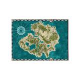Pirate adventure map area Area Rugs