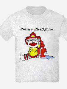 Sock Monkey Future Firefighter T-Shirt