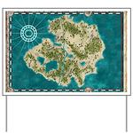Pirate Adventure Map Yard Sign