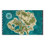 Pirate Adventure Map Sticker