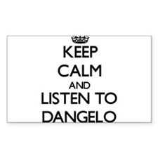 Keep Calm and Listen to Dangelo Decal