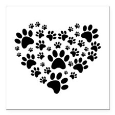 "I love animals Square Car Magnet 3"" x 3"""