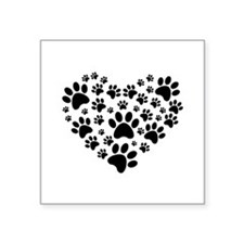 "I love animals Square Sticker 3"" x 3"""