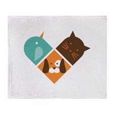 Animals haert Stadium Blanket