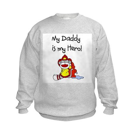 Sock Monkey Hero Dad Kids Sweatshirt