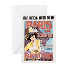 Paris In London 1902 Card Greeting Cards