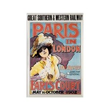 Paris In London 1902 Rectangle Magnet Magnets