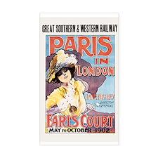 Paris In London 1902 Sticker (rectangle)
