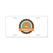 Redhead cat Aluminum License Plate