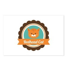 Redhead cat Postcards (Package of 8)