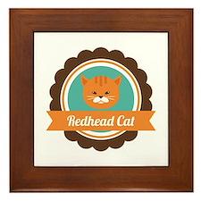 Redhead cat Framed Tile