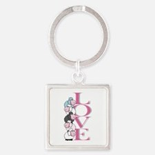 Love sheeps Square Keychain