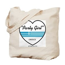 Party Girl Greece Tote Bag