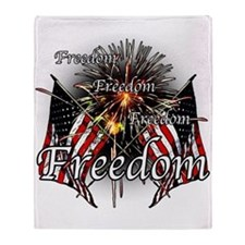 Freedom fireworks Throw Blanket