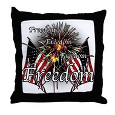 Freedom fireworks Throw Pillow