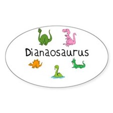 Dianaosaurus Oval Decal