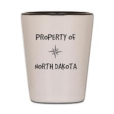 Property of North Dakota Shot Glass